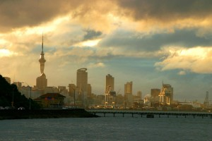Auckland Skyline after storm